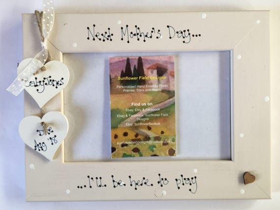 Baby Scan Photo Picture Frame Big Sister Big Brother Personalised Any Wording.