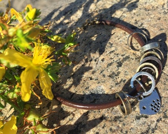 """Bracelet """"to your markers', for knitting stitch markers"""