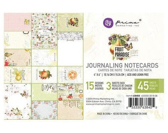Prima Marketing - Fruit Paradise 4x6 Journaling Notecards (Vintage, Fruit, Floral)