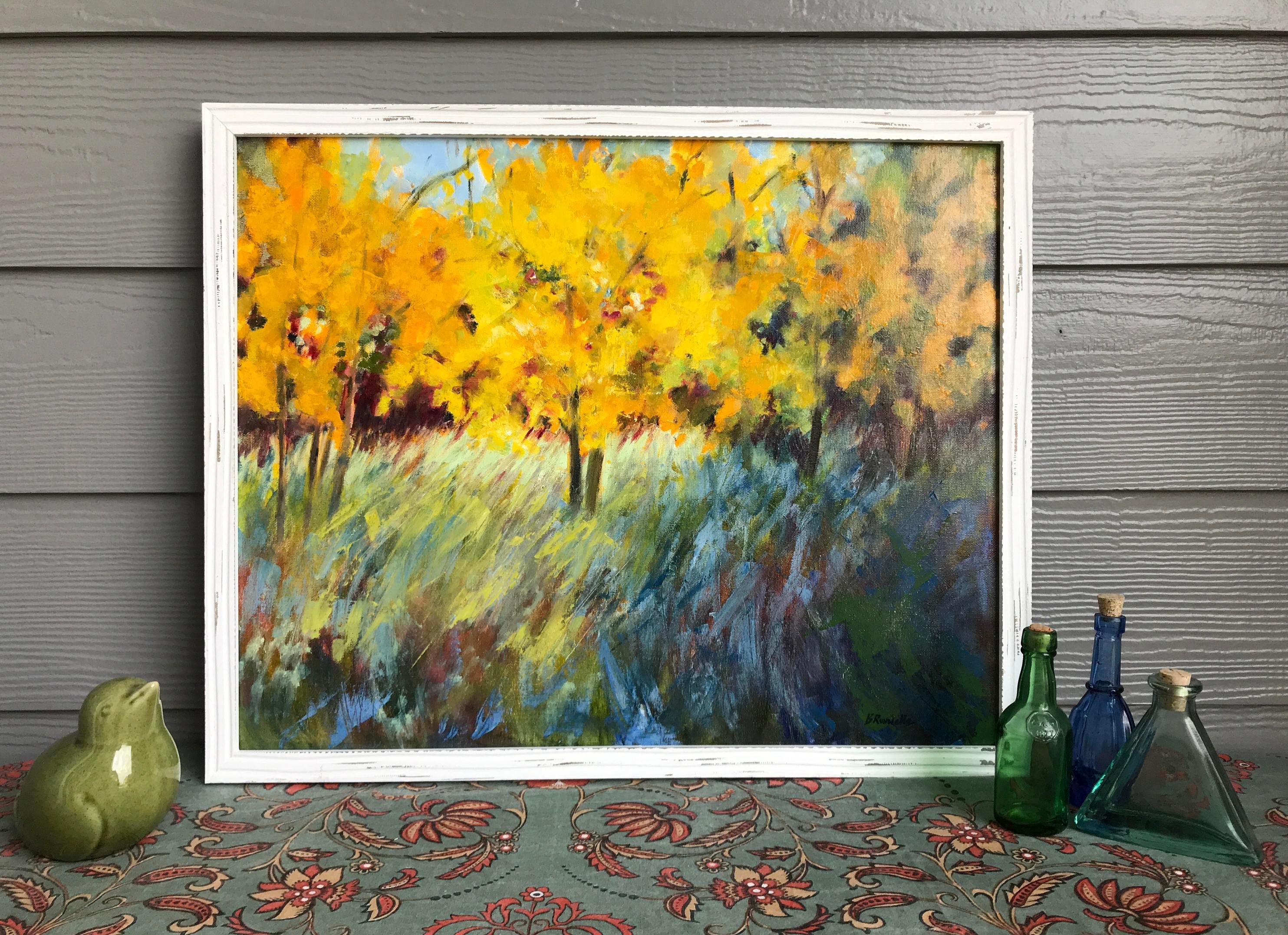 Aspen tree modern art 16x20 original oil | Etsy