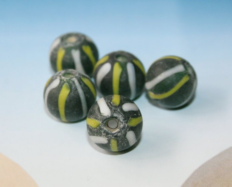 13 x 12 mm antique beads handmade Java beads unique beads for ethnic jewelry vintage beads