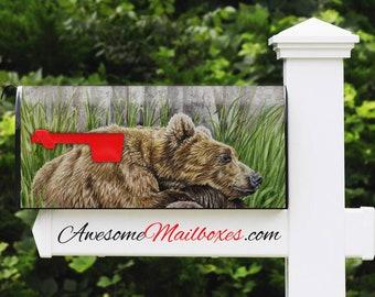 bear for mailbox etsy