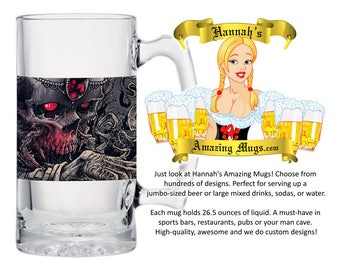 Beer Mug - Beserk Collector Design - 26.5 oz Jumbo Size - FREE SHIPPING