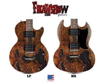 NECRONOMICON Electric Guitar - Free US Shipping - Freakshow Guitars