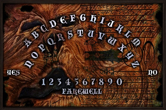 Ouija Board With Planchette Necronomicon Board By Occultboards Com