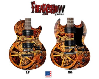STEAMPUNK Electric Guitar - Free US Shipping - Freakshow Guitars