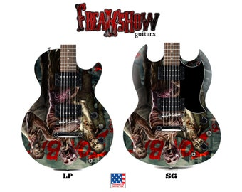 ZOMBIE Electric Guitar - Free US Shipping - Freakshow Guitars