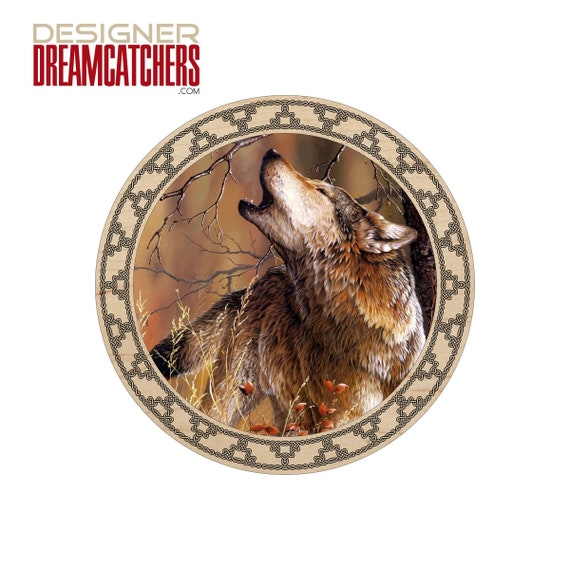 Dream Catcher Indian 10 Printed Vinyl On Wood With Feathers Matte Finish