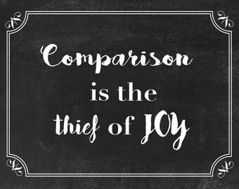 Comparison inspirational quote download