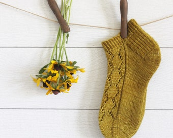 Golden Days Anklet Sock Pattern