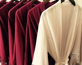 SALE Cotton Robes Regular, Plus size, 3XL, 4XL size Bridesmaid robes Solid Wedding robes Bridal robe Personalized robes Solid cotton robes
