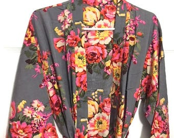 SALE Floral Bride Cotton robes Regular size 9c3dbf87e