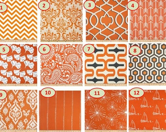 SALE CLEARANCE Lowest Price Grommets Option Also Window CURTAIN Premier  Print Coral Orange And White Cotton Customized Width And Length