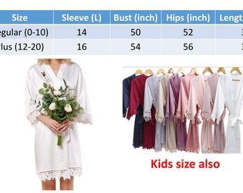 SALE Bridal Lace Solid Silk Satin Robes Regular and Plus size Bride robes  Bridesmaid robe Wedding robes Personalized robe 5cf6e6910