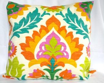 SALE OUTDOOR Pillow covers blue orange Pillow cases,  green pillow, Pillows Decorative Pillows 18x18, 16X16, 14x14, 12x12, 10x10