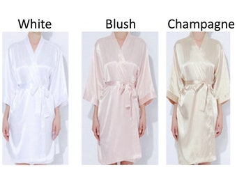 SALE Bride robes, Bridesmaid robes, Wedding robes, Photoshoot robes Solid Bridal robe, Mother's gift Personalized robes, Solid satin robes