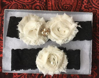 Sale – Wedding Garter set - Bridal Garter set - Sale rhinestone garter - Crystal garter - Toss Garter - Keepsake garter -Wedding accessories