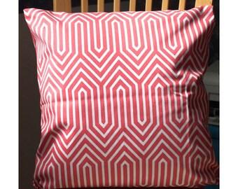 SALE HOME DECOR nursery decor Coral and white Pillow cover Pillow cases Pillows Decorative Pillows 20x20, 18X18, 16X16, 14x20, 14x14, 12x16