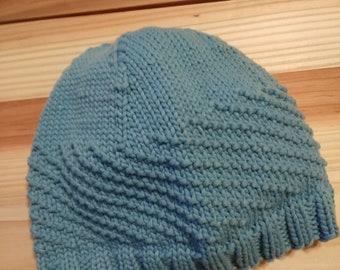 4b592e3a4d1874 Diagonal knit hat | Etsy