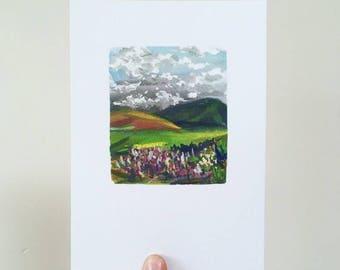 Hills and Heather Print