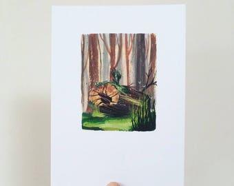 Fallen Log Print