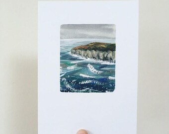 Stormy Cliff Print