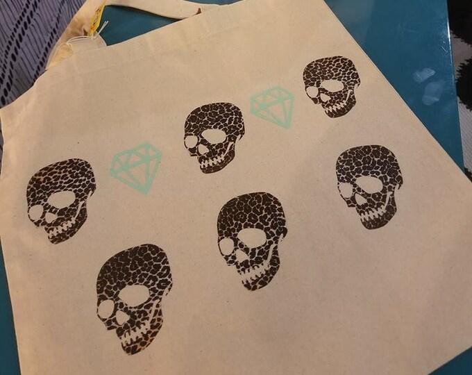 Skull & Cheetah Tote