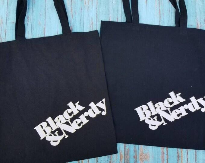 Black and Nerdy Tote Bag