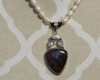 Labradorite, Pearl and Moonstone Delight