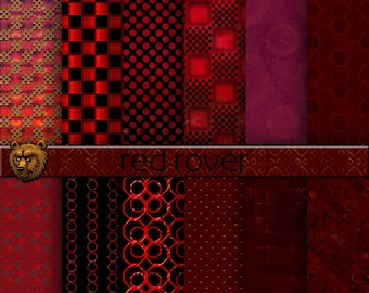 dark red digital paper, dark red digital background, red scrapbook paper