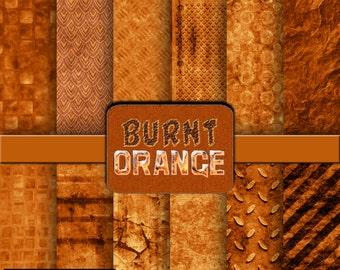 Burnt Orange digital paper, scrapbook, background