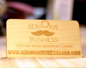 Custom Engraved Wood Business Cards (Maple)