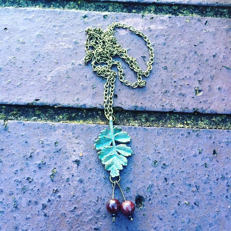 Garnet hawthorne necklace pagan