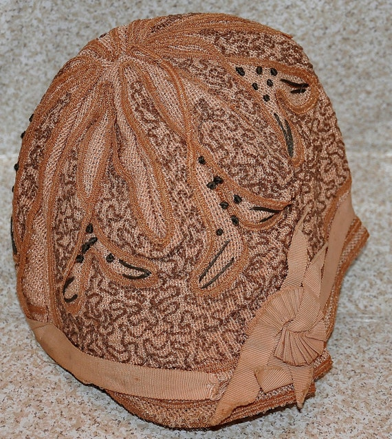 Embroidered Cloche Hat