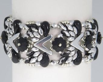 11bd00f1c Owls Bracelet - Beading Tutorial - AVA Swarovski Flowers and Zoliduo  Bracelet - Beading Pattern - AVA Zoliduo Beaded Bracelet Tutorial - PDF