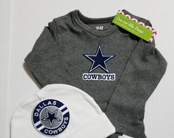 baby dallas cowboys outfit-dallas cowboys baby shower gift-dallas cowboys newborn/dallas cowboys baby outfit/newborn dallas cowboys