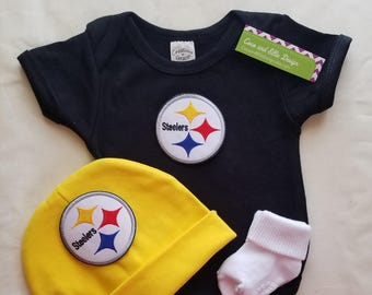 222f143b7 Pittsburgh Steelers baby outfit-Steelers baby shower gift- Steelers newborn-Pittsburgh  Steelers take home/steelers baby/steelers football