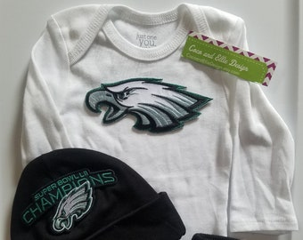 d0b89f604 Philadelphia eagles baby outfit