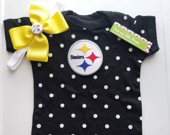 Pittsburg Steelers baby girl outfit  steelers take home  steelers toddler   pittsburgh steelers baby shower steelers newborn steelers girl 325bd4afa