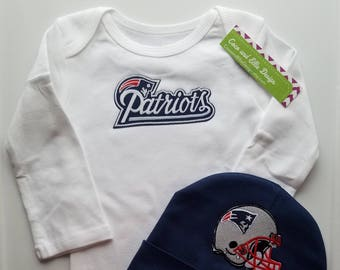 New England Patriots baby boy outfit-baby boy patriots outfit-ne partriots boy shower gift-patriots baby football outfit/pats baby