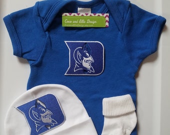2c77322d0 Duke blue devils baby outfit/duke baby /duke baby shower/duke take home/duke  baby boy/duke newborn/duke baby gift/blue devils baby boy