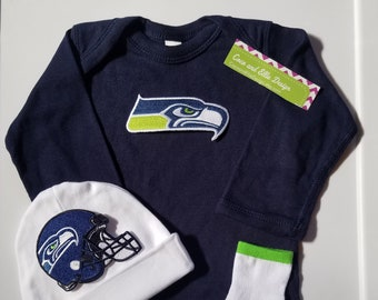 Seattle Seahawks baby outfit seattle seahawks newborn seattle seahawks baby  shower gift seattle seahawks take home outfit seahawks baby gift 14f9819e3