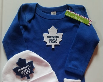 1c5213a82a1 Toronto Maple Leafs baby outfit Toronto Maple leafs baby shower gift maple  leafs baby outfit maple leafs take home maple leafs baby gift