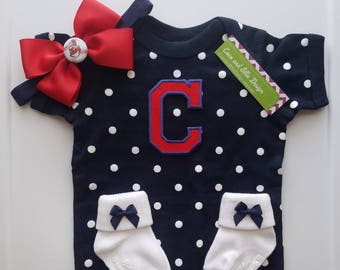 cleveland indians baby outfit-cleveland indians newborn-cleveland indians baby shower gift-baby girl cleveland indians/baby indians