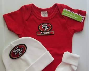 8791dfcca14 san francisco 49ers baby boy outfit  49ers newborn  49ers baby  49ers baby  shower gift  49ers take home 49ers coming home  49ers baby gift