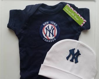 new york yankees baby outfit-yankees outfit for newborn-ny yankees baby take home-ny yankees for baby/newborn yankees/baby yankees/