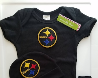 Pittsburgh Steelers baby outfit-Steelers baby boy shower gift-Steelers newborn-Pittsburgh Steelers take home/steelers baby/newborn steelers