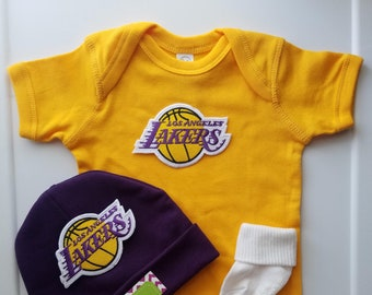 d4270e7baed La Lakers baby boy outfit/lakers baby boy/lakers newborn/lakers baby shower/ lakers newborn/lakers take home outfit/lakers baby shower