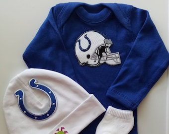indianapolis colts baby outfit-colts baby-indianapolis colts baby shower gift/indy colts newborn/indy colts baby/newborn indy colts
