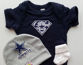 76a053b01 dallas cowboys baby outfit-baby cowboys-dallas cowboys newborn-dallas  cowboys take home-dallas cowboy baby shower gift dallas cowboy baby